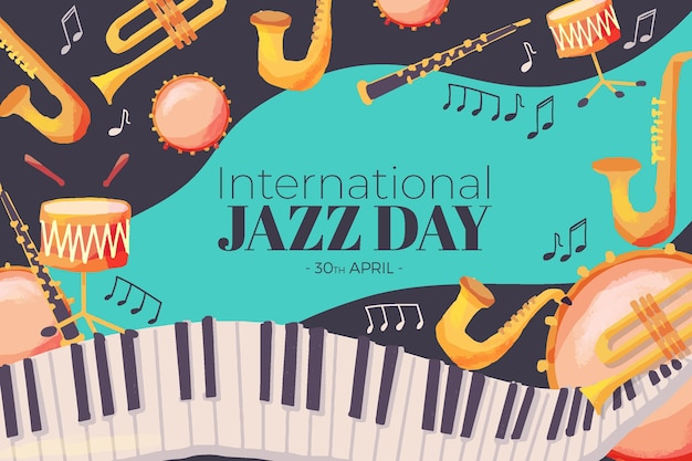 Internationaler jazz tag hintergrund
