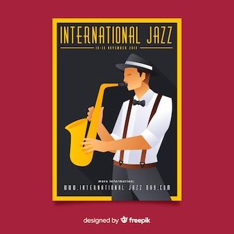 Internationaler jazz-tagesflieger