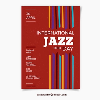 Internationaler jazztag netter posterinternational jazztag nettes plakat