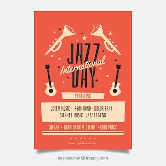 Internationaler jazztag schönes plakat