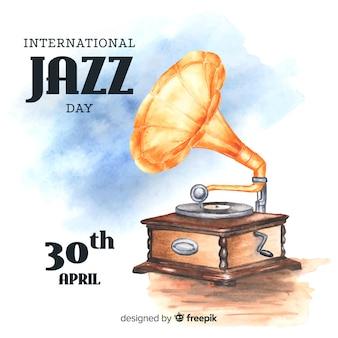 Internationaler jazztaghintergrund des aquarells