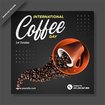 Internationaler kaffeetag instagram post
