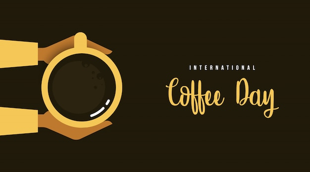 Internationaler kaffeetaghintergrundillustrationsvektor