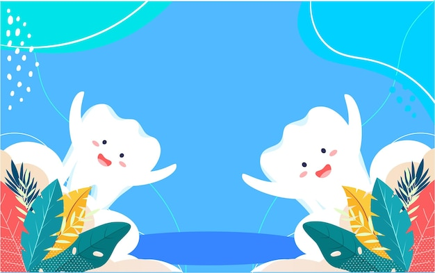 Internationaler liebeszahntag zähneputzen illustration zahngesundheit mundreinigung poster