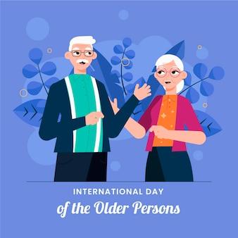Internationaler tag der älteren menschen konzept