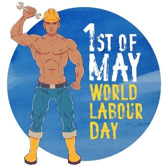 Internationaler tag der arbeit. am ersten mai