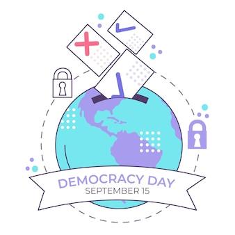 Internationaler tag der demokratie event design