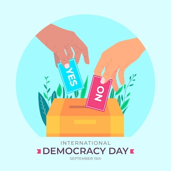 Internationaler tag der demokratie eventstil