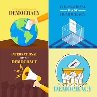 Internationaler tag der demokratie illustration