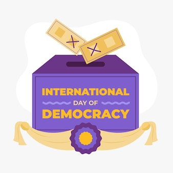 Internationaler tag der demokratie mit abstimmung