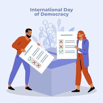 Internationaler tag der demokratie mit menschen