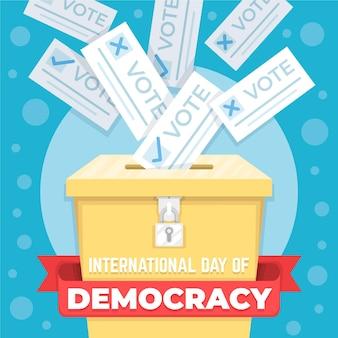 Internationaler tag der demokratie mit wahlurne
