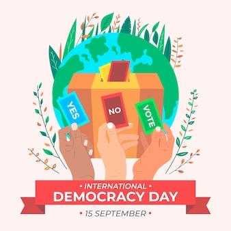 Internationaler tag der demokratiefeier