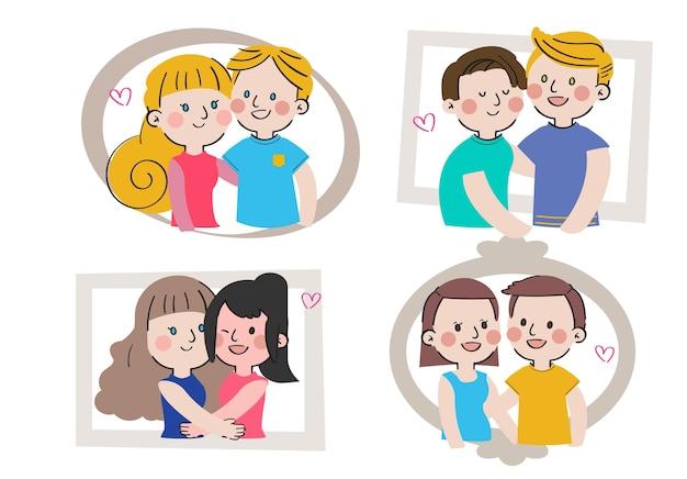 Internationaler tag der familien große liebe süße zusammengehörigkeit familiencharakter