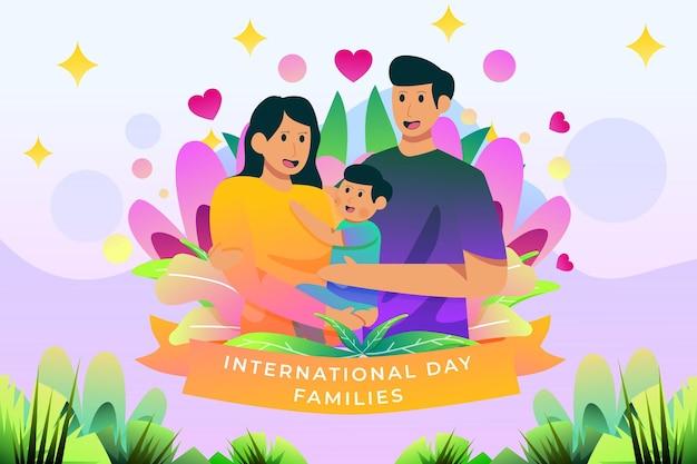Internationaler tag der familien illustration