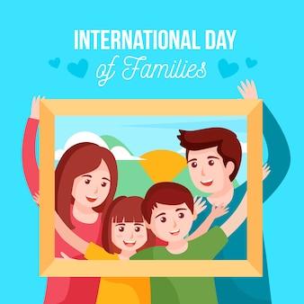 Internationaler tag der familien illustriertes design