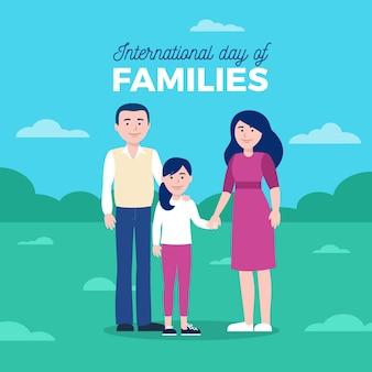 Internationaler tag der familien in flachem design
