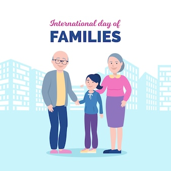 Internationaler tag der familien in flachem design