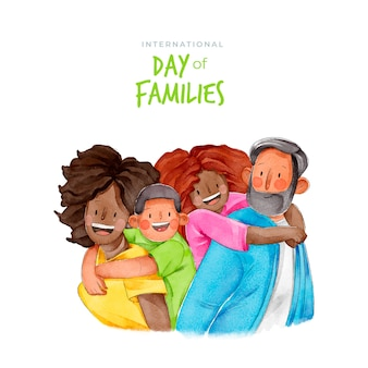 Internationaler tag der familien konzept