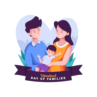 Internationaler tag der familien mit eltern und kind