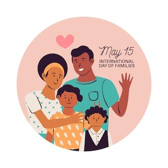Internationaler tag der familien mit eltern und kindern