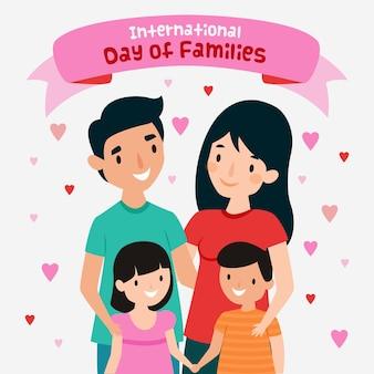 Internationaler tag der familien mit flachem design