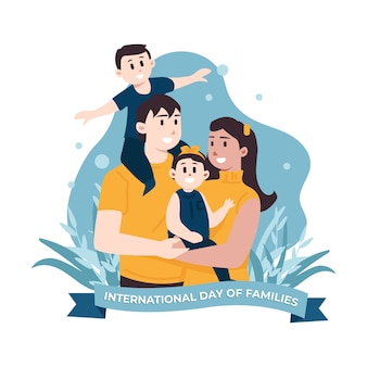 Internationaler tag der familienillustration