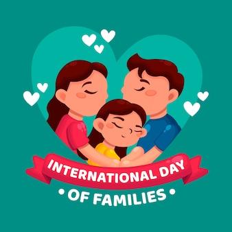 Internationaler tag der familienillustration