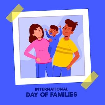 Internationaler tag der familienillustrationsthema