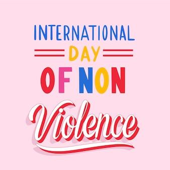 Internationaler tag der gewaltfreien beschriftung