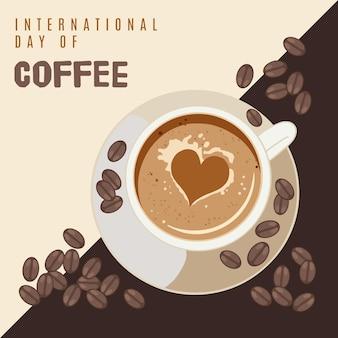 Internationaler tag der kaffee-veranstaltung