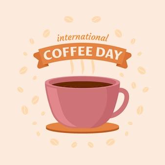 Internationaler tag der kaffeeillustration