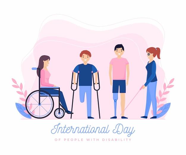 Internationaler tag der menschen mit behinderung illustration