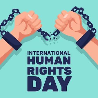 Internationaler tag der menschenrechte mit flachem design