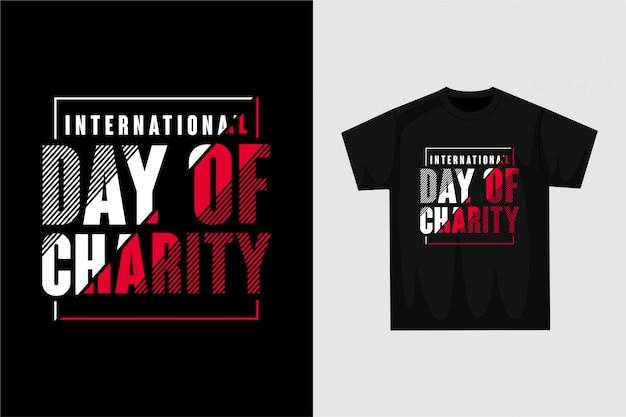 Internationaler tag der nächstenliebe - grafisches t-shirt