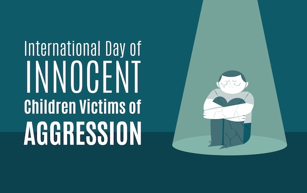 Internationaler tag der unschuldigen kinder, die opfer von aggressionen sind