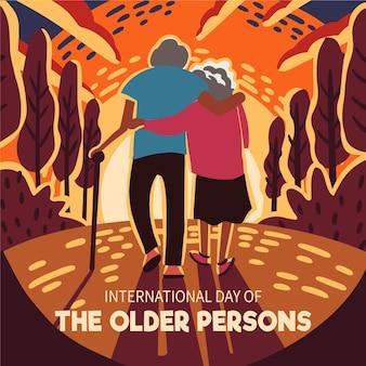 Internationaler tag der veranstaltung für ältere menschen