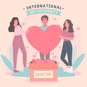 Internationaler tag der wohltätigkeitszeichnung