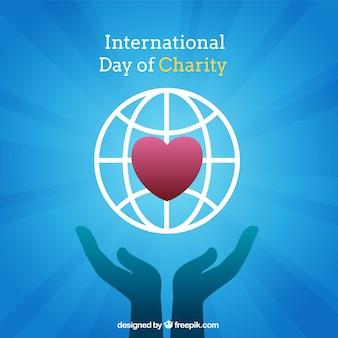 Internationaler tag der wohltätigkeitszusammensetzung
