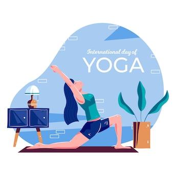 Internationaler tag der yoga-auslosung