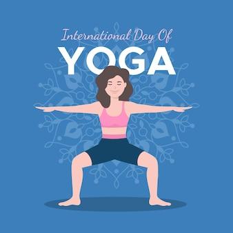 Internationaler tag der yoga-illustration