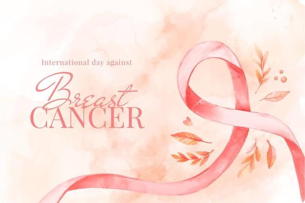 Internationaler tag des aquarells gegen brustkrebshintergrund