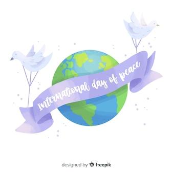 Internationaler tag des friedens mit dem planeten erde