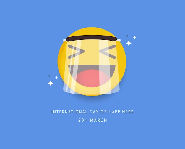 Internationaler tag des glücks.