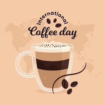 Internationaler tag des kaffees mit tasse