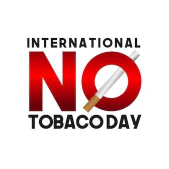 Internationaler tag des nichtrauchers