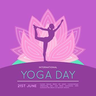 Internationaler tag des yoga-konzepts