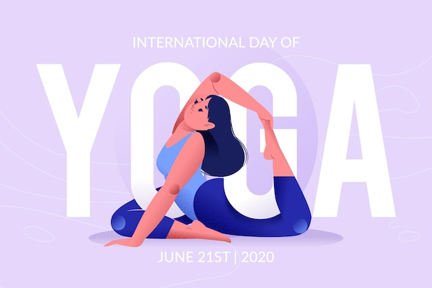 Internationaler tag des yoga-konzepts