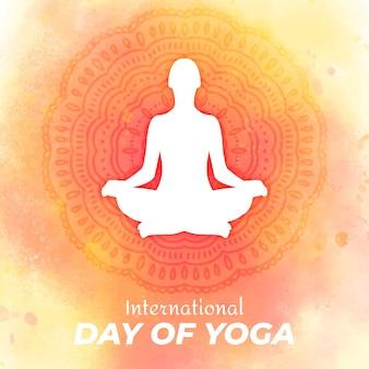 Internationaler tag des yoga zeichnens