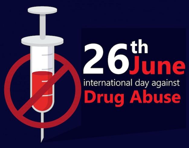 Internationaler tag gegen drogenmissbrauch